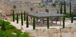 ophel archaeological gardens at the foot of Jerusalem temple mount