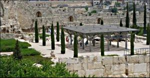ophel gardens in Jerusalem Old City