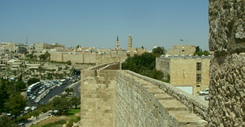 Jerusalem seen from the Ramparts of the Old City