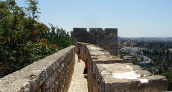 the ramparts of Jerusalem's Old City