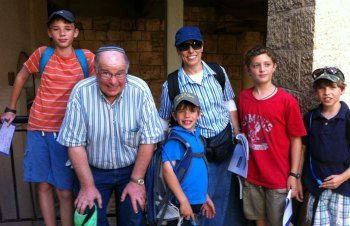 Family on Jerusalem Scavenger Hunt