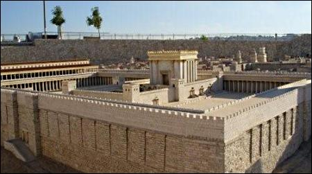 The Temple in Jerusalem Israel Museum model