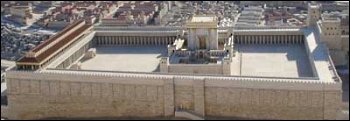 model of temple mount in Jerusalem