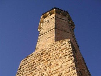 The minaret of the tomb of Samuel the Prophet